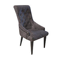 Кресло Рандеву цв. каркас м/п (Кожзам АОД/ГОБ.Stock) серый