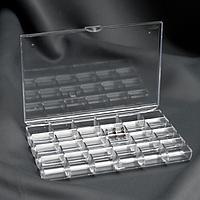 Органайзер для ниток, на 48 шпулек, 18 × 13 × 2,5 см, цвет прозрачный