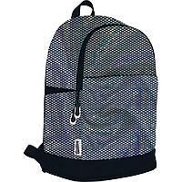 Рюкзак повседневный с многоцветными пайетками и сеткой. 43х29х16,5 см. Seventeen Радужные пайетки