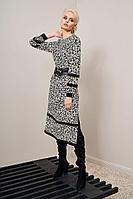Женское осеннее из вискозы черное платье Noche mio 1.194 44р.