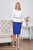 Женский осенний деловой нарядный большого размера юбочный комплект Azzara 768/1В 46р.