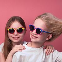 """Очки солнцезащитные детские """"Clubmaster"""", оправа бабочка, стёкла тёмные, МИКС, 13.5 × 13 × 5 см"""