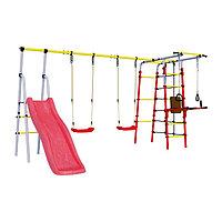 Детский спортивный комплекс уличный 'Богатырь Плюс 2', 3572 x 2443 x 1855 мм, пластиковые качели