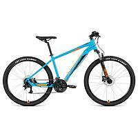 Велосипед 27,5' Forward Apache 3.2 disc, 2021, цвет бирюзовый/оранжевый, размер 21'