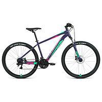 Велосипед 27,5' Forward Apache 3.2 disc, 2021, цвет фиолетовый/зеленый, размер 21'