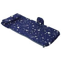Матрас надувной в автомобиль 130 х 75 х 38 см, цвет синий