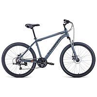 Велосипед 26' Forward Hardi 2.1 disc, 2021, цвет серый матовый/черный, размер 18'