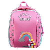 Рюкзак каркасный deVENTE Cool 39 х 30 х 16 см, Always Dreaming, розовый/бирюзовый