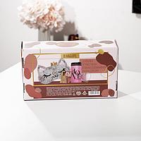 Подарочный набор 'Жена, мама, босс', маска для сна, термостакан, спонж 2шт, открытка