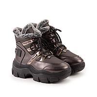 Ботинки, цвет бронзовый, размер 37