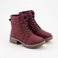 Ботинки женские, цвет бордовый, размер 36