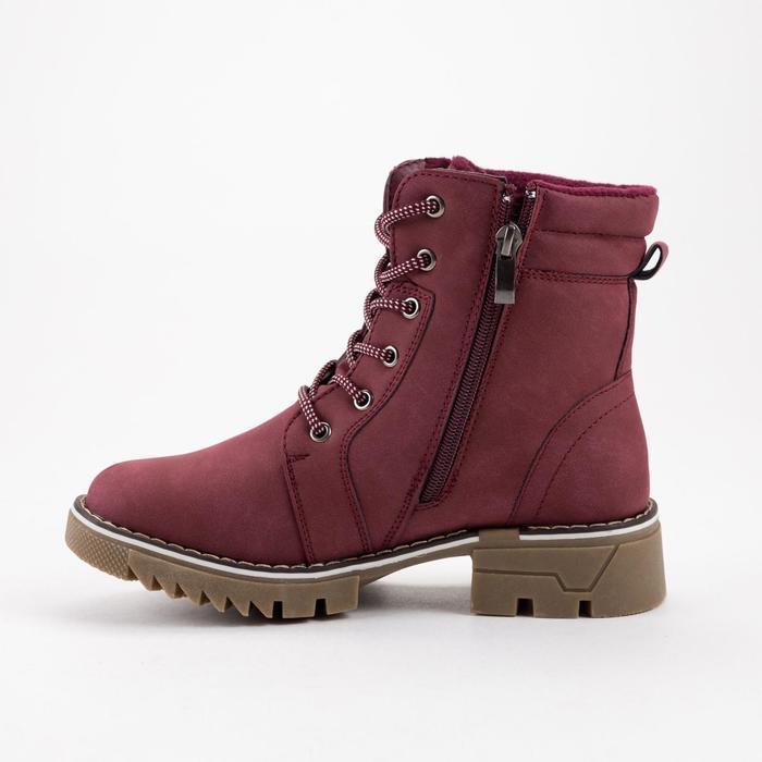 Ботинки женские, цвет бордовый, размер 36 - фото 2