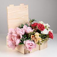 Подарочный ящик 'Сундук' с фурнитурой, 29х25х10 см