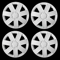 Колпаки колесные R15 'ГАЛАКСИ', белый глянец карбон, набор 4 шт.