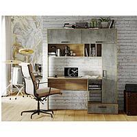 Стол письменный Техно 1500х573х1796 крафт/бетон