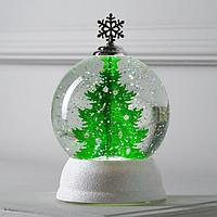 Фигура световая 'Шар с елкой', 18х18х12 см, от батареек, Т/БЕЛЫЙ