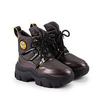 Ботинки детские, цвет бронзовый, размер 33
