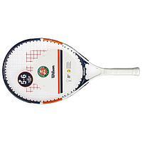 Ракетка для большого тенниса Wilson Roland Garros Elite 21, для детей 5-6 лет, со струнами