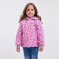 Куртка для девочки, цвет розовый/ласточки, рост 122-128 см