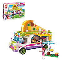Конструктор для девочек 'Пиццерия на колёсах', 414 деталей