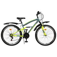 Велосипед 26' Progress Sierra FS, цвет серый/зеленый, размер 18'
