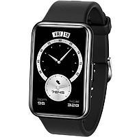 Смарт-часы Huawei Fit Elegant TIA-B29, 1.64', Amoled, пульсомер, шагомер, 180 мАч, чёрные