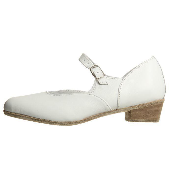 Туфли народные женские, длина по стельке 20 см, цвет белый - фото 2