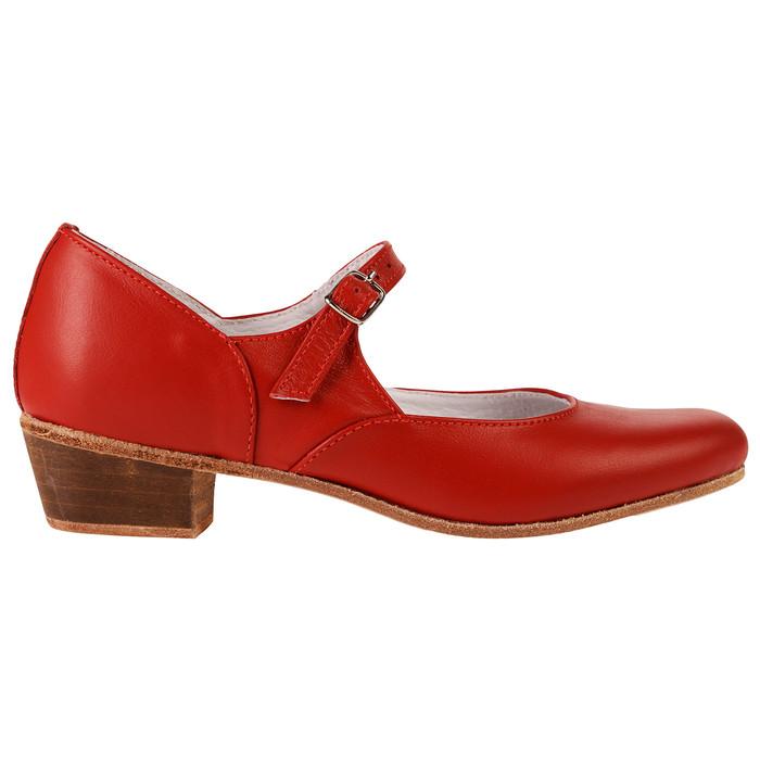 Туфли народные женские, длина по стельке 21,5 см, цвет красный - фото 2