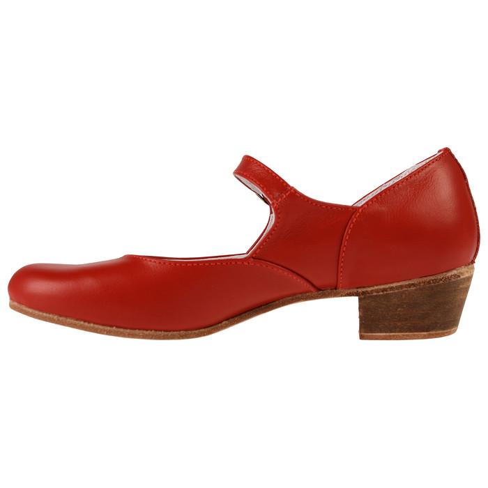 Туфли народные женские, длина по стельке 21,5 см, цвет красный - фото 3
