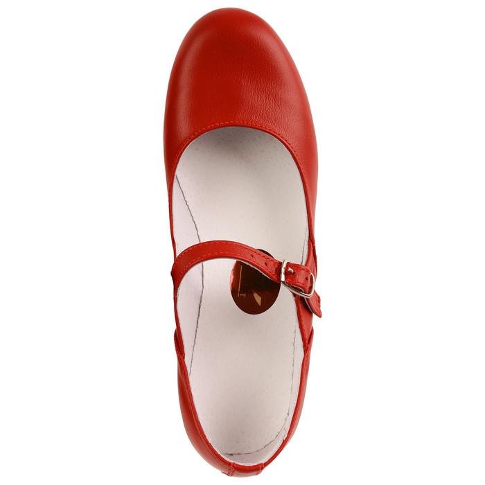 Туфли народные женские, длина по стельке 21,5 см, цвет красный - фото 5