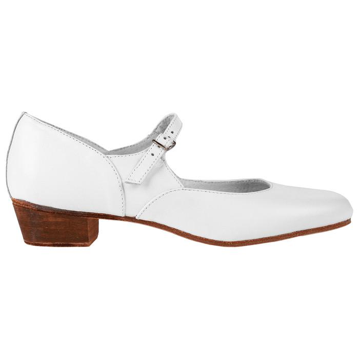Туфли народные женские, длина по стельке 23,5 см, цвет белый - фото 2