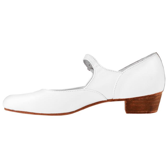 Туфли народные женские, длина по стельке 23,5 см, цвет белый - фото 3
