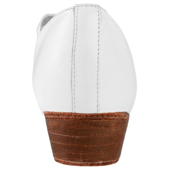 Туфли народные женские, длина по стельке 23,5 см, цвет белый - фото 4