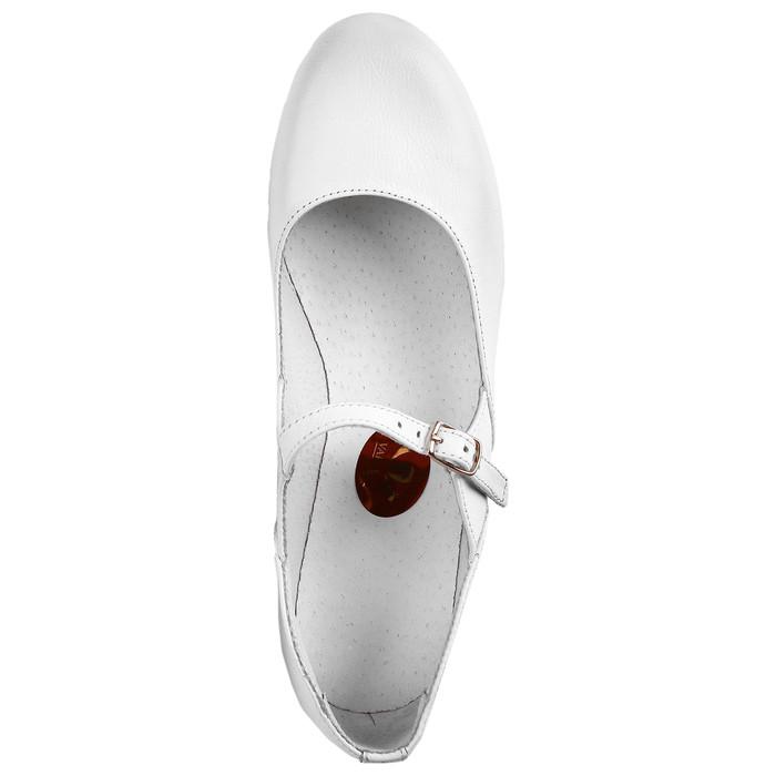 Туфли народные женские, длина по стельке 23,5 см, цвет белый - фото 5