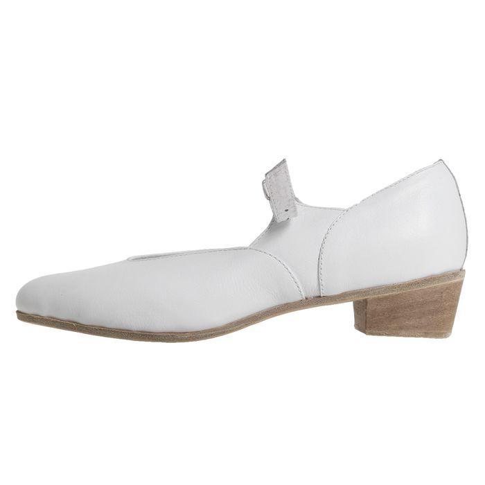 Туфли народные женские, длина по стельке 24 см, цвет белый - фото 2