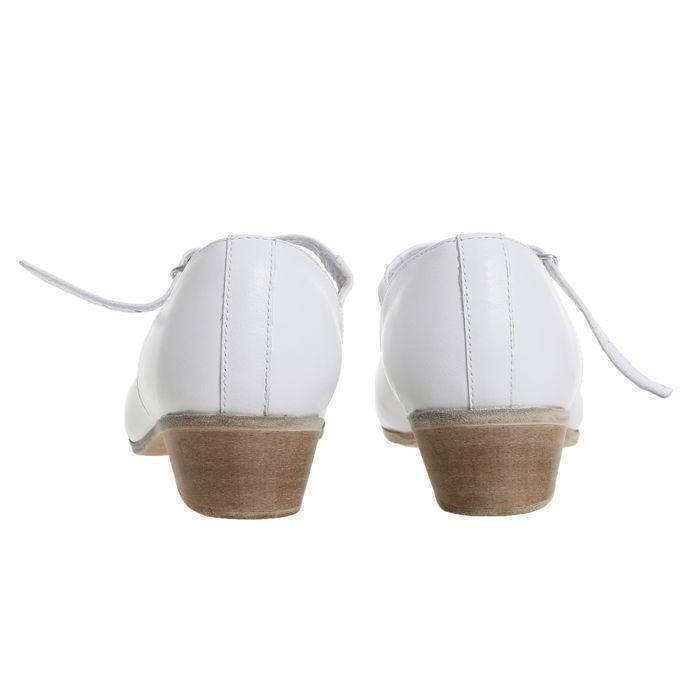 Туфли народные женские, длина по стельке 24 см, цвет белый - фото 4