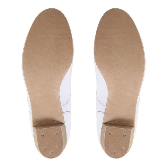 Туфли народные женские, длина по стельке 24 см, цвет белый - фото 5