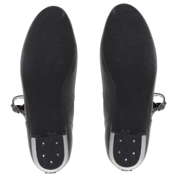 Туфли народные женские, длина по стельке 24,5 см, цвет чёрный - фото 3