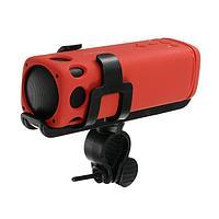 Портативная колонка для велосипеда SK1007YW, фонарик, microSD/USB, BT, 3Вт, 4000мАч, красная
