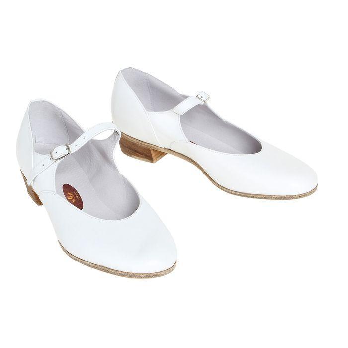 Туфли народные женские, длина по стельке 26 см, цвет белый - фото 1