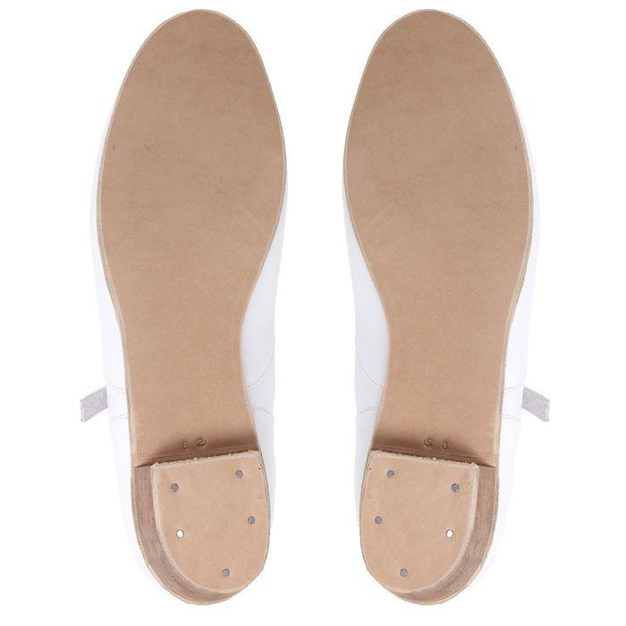Туфли народные женские, длина по стельке 26 см, цвет белый - фото 3