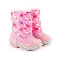 Сноубутсы детские, цвет розовый, размер 21