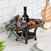 Винный столик деревянный 'Premium 4' эбеновое дерево