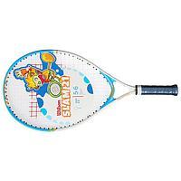 Ракетка для большого тенниса Wilson SLAM 21, для детей 6-5 лет, алюминий, со струнами