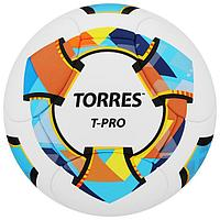 Мяч футбольный TORRES T-Pro, размер 5, 14 панелей, PU-Microf, 4 подслоя, термосшивка, цвет белый