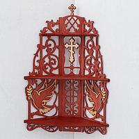 Иконостас 11, цвет красное дерево, 61х18х39 см