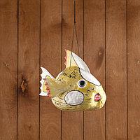 Сувенир из кокоса 'Рыбка' подвесной 30х25х23 см