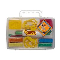 Набор для лепки JOVI пластилин 8 цветов, 200 г, растительный, 12 формочек, 3 стека, скалка в чемодане