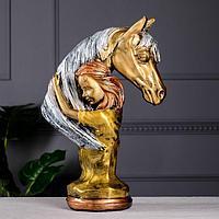 Статуэтка 'Девушка с конем', бронза, 36 см, микс