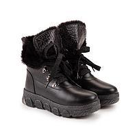 Ботинки, цвет чёрный, размер 37